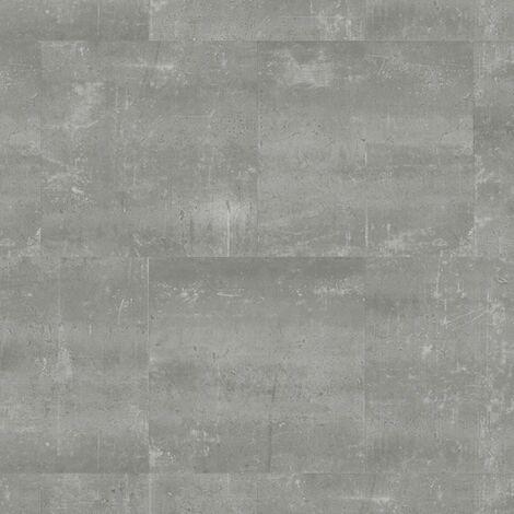 Dalles de sol PVC clipsables trafic intense - boite de 9 dalles sol vinyle imitation carrelage - 1,75 m² -Starfloor Click 55 - Composite Cool gris - TARKETT