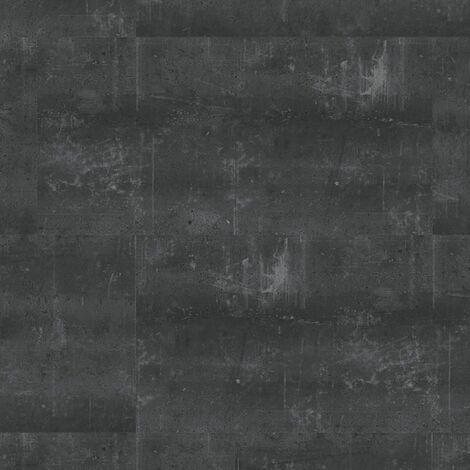 Dalles de sol PVC clipsables trafic intense - boite de 9 dalles sol vinyle imitation carrelage - 1,75 m² -Starfloor Click 55 - Composite Noir - TARKETT