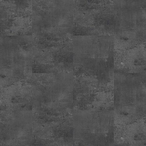Dalles de sol PVC clipsables trafic intense - boite de 9 dalles sol vinyle imitation carrelage - 1,75 m² -Starfloor Click 55 - Vintage Zinc noir - TARKETT