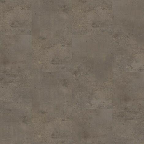 Dalles de sol PVC clipsables trafic intense - boite de 9 dalles sol vinyle imitation carrelage - 1,75 m² -Starfloor Click 55 - Vintage Zinc Rust - TARKETT