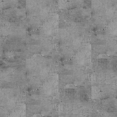 Dalles de sol PVC clipsables trafic intense - boite de 9 dalles sol vinyle imitation carrelage - 1,75 m² -Starfloor Click 55 - Vintage Zinc Silver- TARKETT