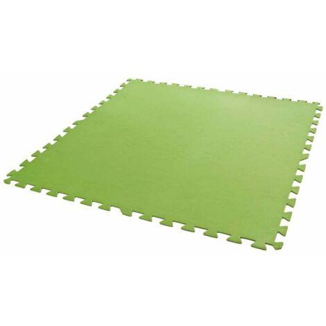 Dalles de sol verte 81 x 81 cm 8 pièces