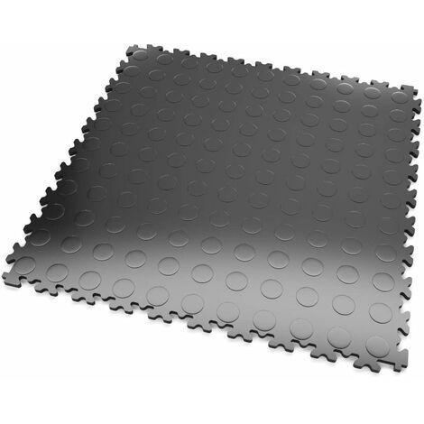 """DALLES MOSAIK PVC Anthracite - GARAGE, ATELIER - Épaisseur 5mm """"Surface Pastillée"""""""
