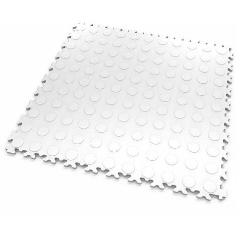"""DALLES MOSAIK PVC Blanc - GARAGE, ATELIER - Épaisseur 5mm """"Surface Pastillée"""""""