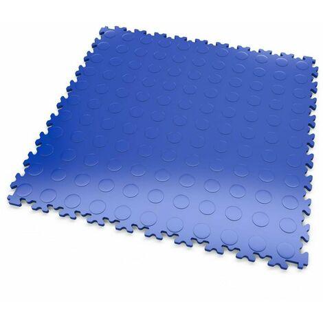 """DALLES MOSAIK PVC Bleu - GARAGE, ATELIER - Épaisseur 7mm """"Surface Pastillée"""""""