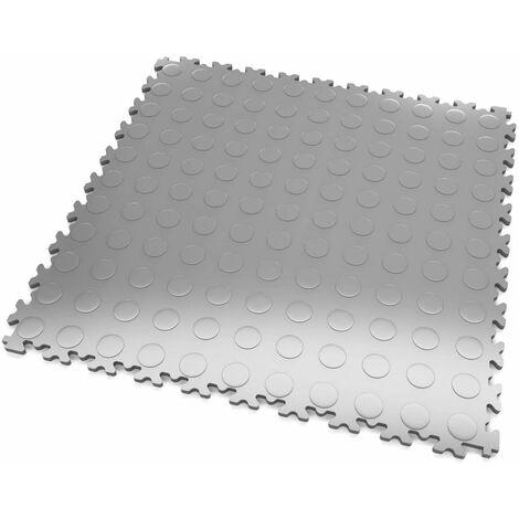 """DALLES MOSAIK PVC Gris-Clair - GARAGE, ATELIER - Épaisseur 7mm """"Surface Pastillée"""""""