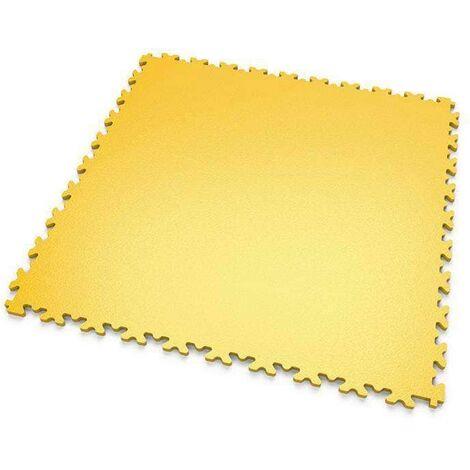 """DALLES MOSAIK PVC Jaune - GARAGE, ATELIER - Épaisseur 7mm """"Surface Lisse"""""""