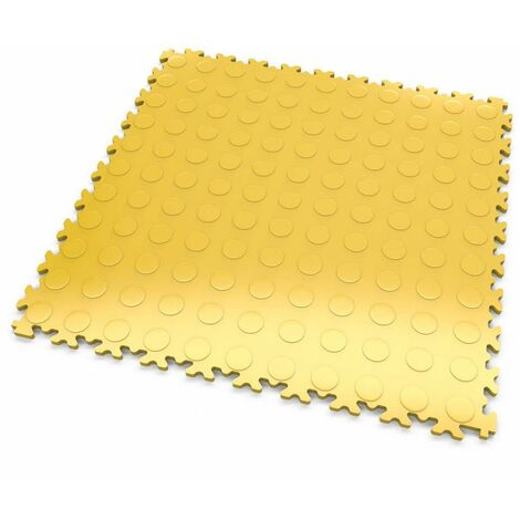 """DALLES MOSAIK PVC Jaune - GARAGE, ATELIER - Épaisseur 7mm """"Surface Pastillée"""""""