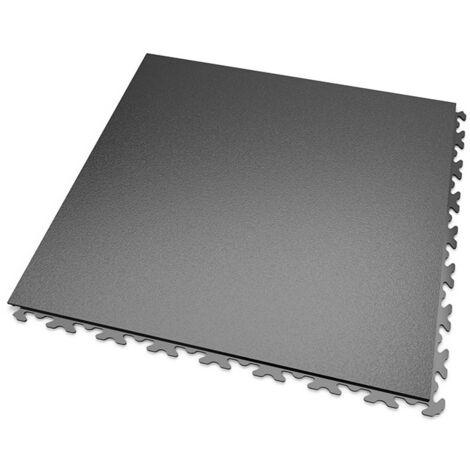 DALLES MOSAIK PVC JOINTS INVISIBLES Anthracite - GARAGE, ATELIER - Épaisseur 5mm