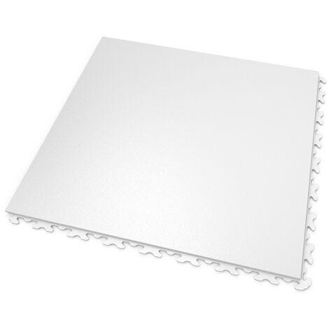 DALLES MOSAIK PVC JOINTS INVISIBLES Blanc - GARAGE, ATELIER - Épaisseur 7mm