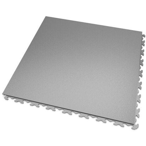 DALLES MOSAIK PVC JOINTS INVISIBLES Gris-Clair - GARAGE, ATELIER - Épaisseur 5mm
