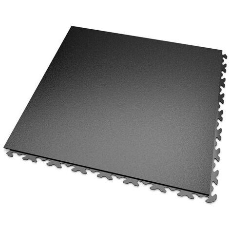 DALLES MOSAIK PVC JOINTS INVISIBLES Noir - GARAGE, ATELIER - Épaisseur 7mm