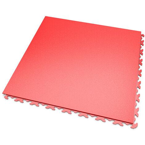 DALLES MOSAIK PVC JOINTS INVISIBLES Rouge - GARAGE, ATELIER - Épaisseur 7mm