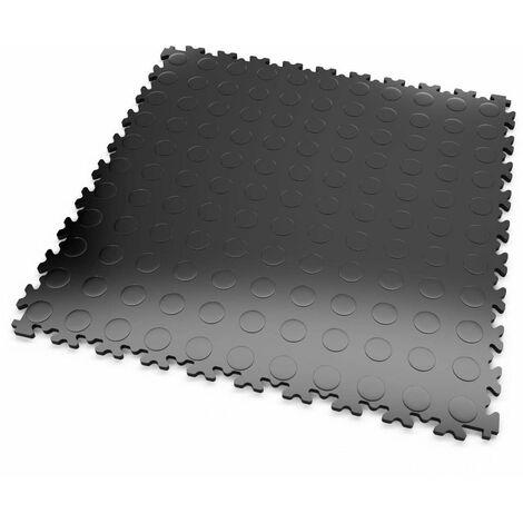 """DALLES MOSAIK PVC Noir - GARAGE, ATELIER - Épaisseur 5mm """"Surface Pastillée"""""""