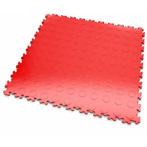 """DALLES MOSAIK PVC Rouge - GARAGE, ATELIER - Épaisseur 7mm """"Surface Pastillée"""""""