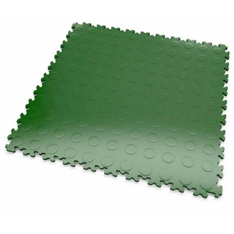 """DALLES MOSAIK PVC Vert - GARAGE, ATELIER - Épaisseur 5mm """"Surface Pastillée"""""""