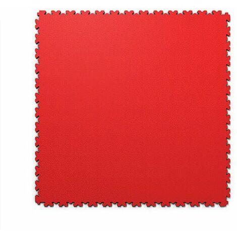 """Dalles PVC Rouge """"FORTELOCK XL"""" Grand Format  epaisseur 4mm   Garage, Atelier, Usine, Entrepôt, Magasin, Salle de Sport"""