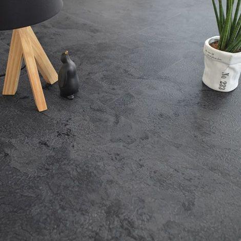Dalles sol PVC - Click à plat - Ardoise Naturelle (36975)