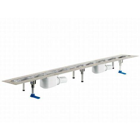 DALLMER caniveau de douche CeraLine 2 caniveaux F 521842, 1200mm, DN 50 hauteur totale 110mm - 521842