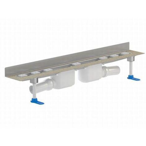 DALLMER caniveau de douche CeraLine 2 W 521859, 800mm, DN 50 hauteur totale 110mm - 521859
