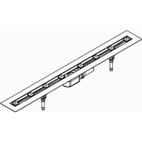 DALLMER caniveau de douche CeraLine F 1200mm, 520074, DN 50 hauteur totale 110mm - 520074