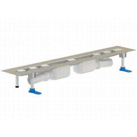 DALLMER caniveau de douche CeraLine PLAN 2 caniveaux 521910, F 900mm, DN 50 hauteur 90mm - 521910