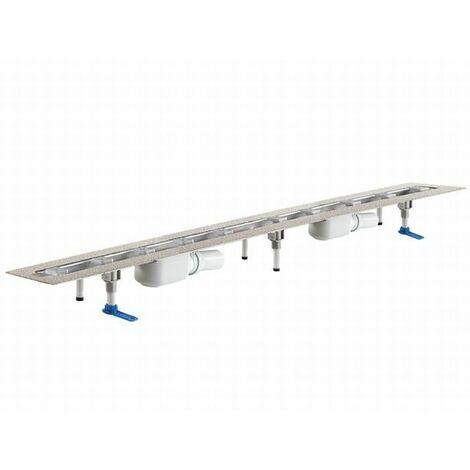 DALLMER caniveau de douche CeraLine PLAN 2 caniveaux 521941, F 1200mm, DN 50 hauteur totale 90mm - 521941