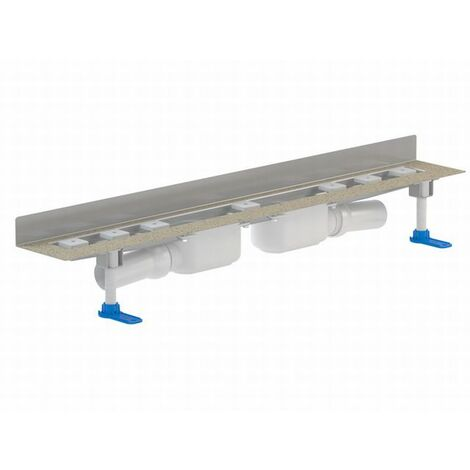 DALLMER caniveau de douche CeraLine PLAN 2 caniveaux 521958, L 800mm, DN 50 hauteur totale 90mm - 521958