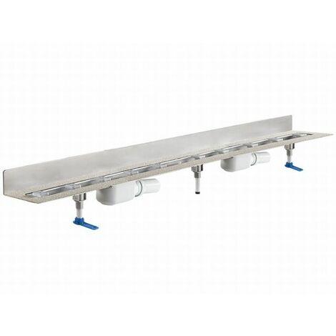 DALLMER caniveau de douche CeraLine PLAN 2 caniveaux 521996, L 1200mm, DN 50 hauteur totale 90mm - 521996