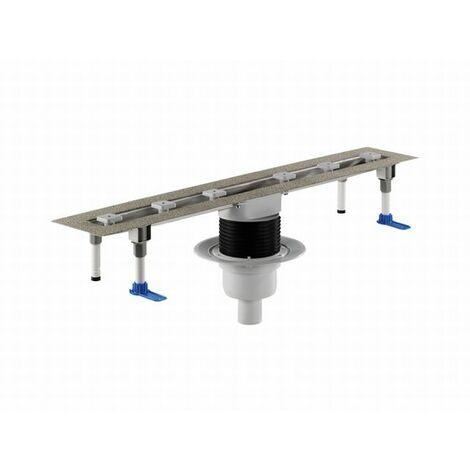 DALLMER caniveau de douche CeraLine vertical F 521637, 800mm, DN 50 hauteur 110mm - 521637