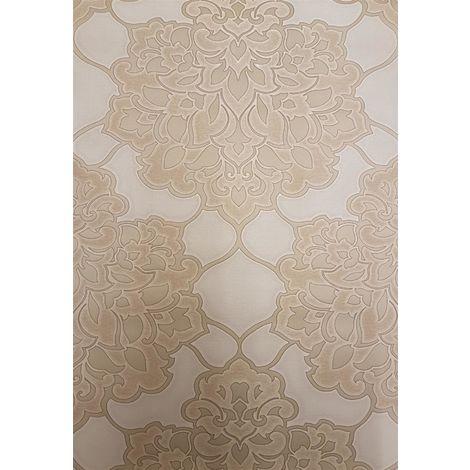 Damask Wallpaper Gold Heavyweight Italian Shiny Luxury Textured Vinyl
