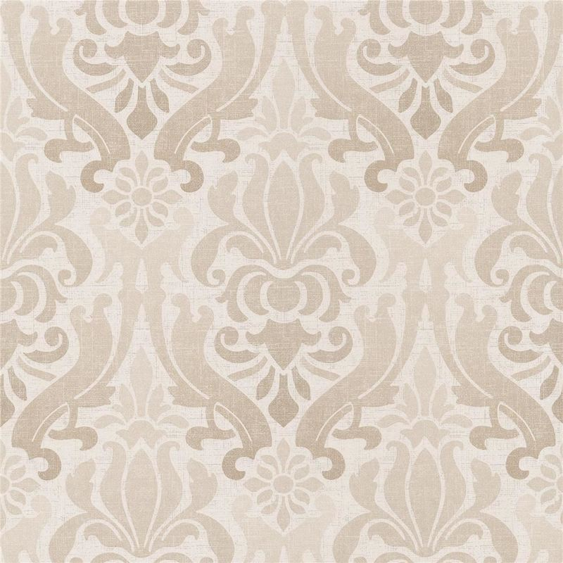 Image of Damask Wallpaper Modern Kenneth James Paste The Wall Beige Non-Woven