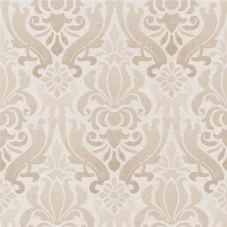 Damask Wallpaper Modern Kenneth James Paste The Wall Beige Non-Woven
