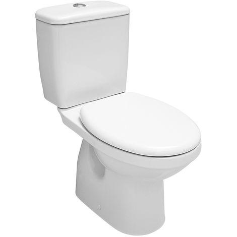 Damla Stand Kombi-WC spülrandlos, Abgang waagerecht, weiß