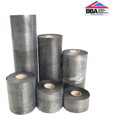 Damp Proof Course Roll DPC 500MU 112.5mm x 30m  BBA Approved (BS 6515 / EN14909 2012 )