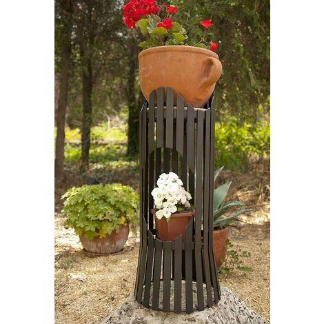 DanDiBo Colonne à Fleurs Albero 60cm Tabouret Porte-Fleurs Métal Table à Plantes Porte Fleurs Tabouret