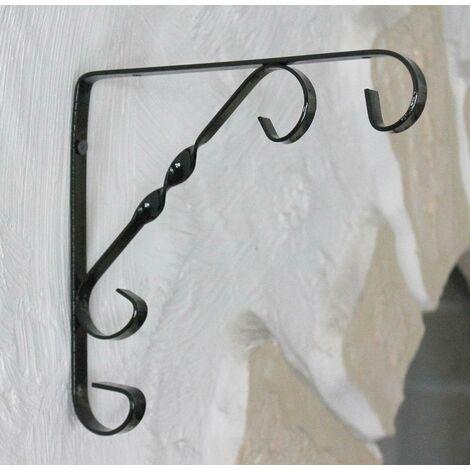DanDiBo Equerre Murale Art.35 Support d'étagère en métal 19,5cm Support Mural Support d'étagère Angle Crochet
