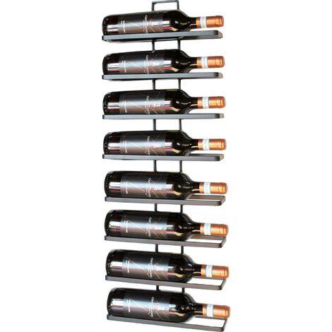 DanDiBo Etagère à vin en métal Noir pour Montage Mural 4-Wine 8 Bouteilles Extensible Support à Bouteilles Etagère à Bouteilles Porte-Bouteilles