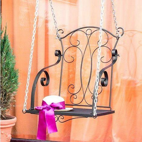 DanDiBo Fauteuil Suspendu Relax Balançoire avec Chaines Banc Suspendu Balançoire de Jardin Balancelle