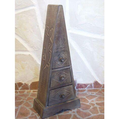DanDiBo Pyramide Commode à 3 tiroirs en bois de balsa 60 cm