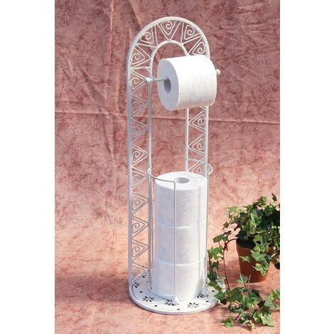 DanDiBo Support Papier toiletter 091427 Blanc 70cm Support Papier Toilette Support Rouleaux WC