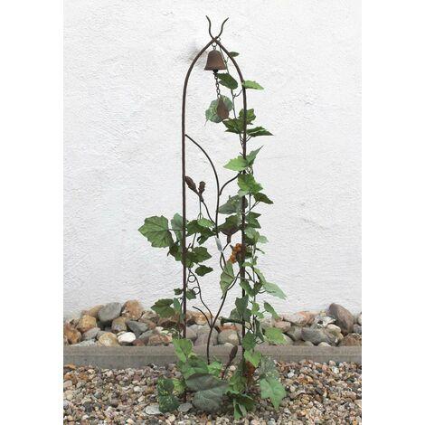 DanDiBo Support pour Plantes grimpantes avec Cloche JD2-12021 Treillis en métal H-120cm B-16cm Support pour Plantes grimpantes