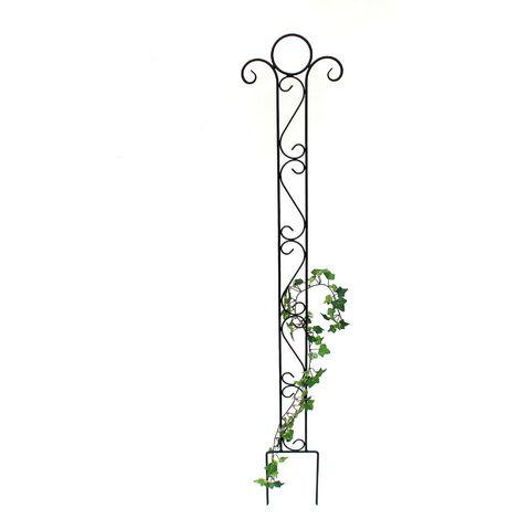 DanDiBo Support pour Plantes grimpantes Classic Treillis en métal 135cm Support pour Plantes grimpantes à insérer dans Le Sol Insert