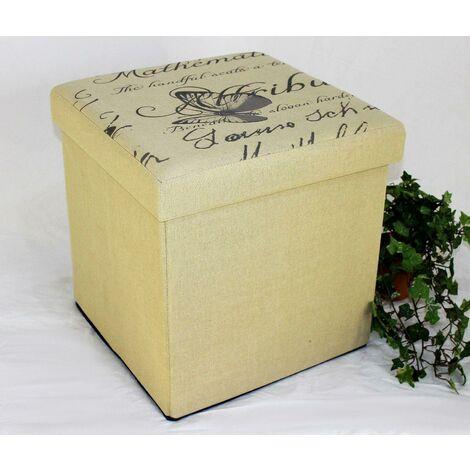 DanDiBo Tabouret Tabouret siège Pliant 2148 Boîte de Rangement 40cm Siège Cube Coffre Corbeille