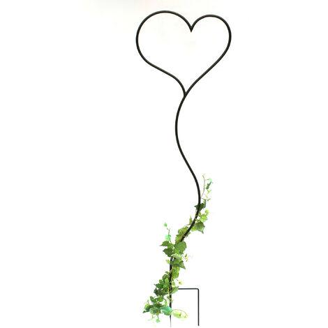 DanDiBo Tuteur pour Plante grimpante Cœur Support pour Plante grimpante en métal 147 cm Tuteur de Sol Tuteur Grille pour Plante grimpante