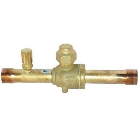 "Danfoss 009G7053 Spherical Ball valve - GBC 16s - Schrader - 5/8"" - 16mm ODF"
