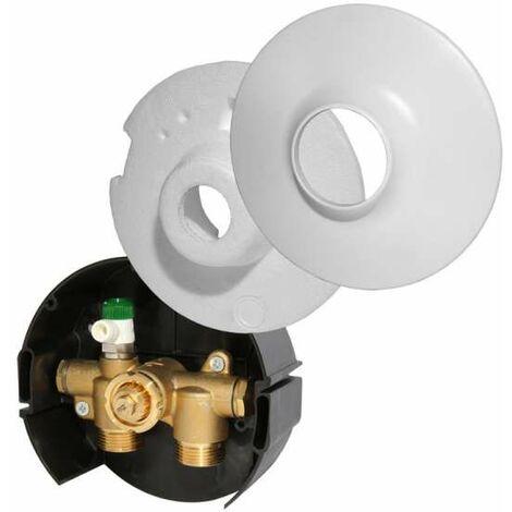Danfoss Rücklauftemperaturbegrenzer Typ FHV-R 20 Wandeinbaukasten mit runder Abdeckung 003L1015