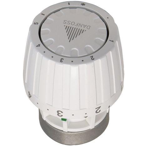 Danfoss Service-Thermostatkopf RA/V alt/neu, flüssigkeitsgefülltes Thermostat, Fühler, Sollwertbereich von 5°C - 28°C, 1-5 Merkzahl, Frostschutzsicherung, 34 mm, Kunststoff, Weiß, 27197 4