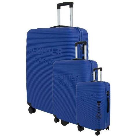 DANIEL HECHTER Set de 3 Valises Trolley DHVDEAUVILLE Rigide ABS - 8 Roues - Cadenas TSA - 50-60-70 cm - Bleu clair