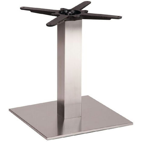 Daniella Brushed Steel Square Coffee, Poseur Height Table Base